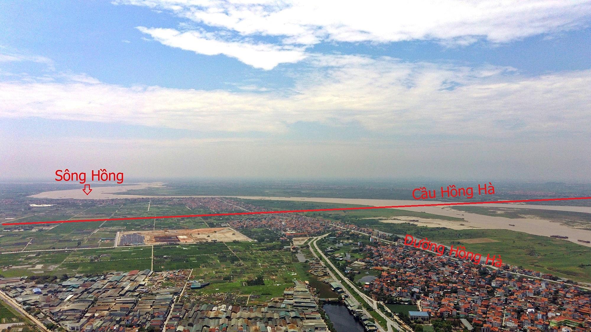 Cầu sẽ mở theo qui hoạch ở Hà Nội: Toàn cảnh vị trí làm cầu Hồng Hà nối Đan Phượng với Mê Linh - Ảnh 2.