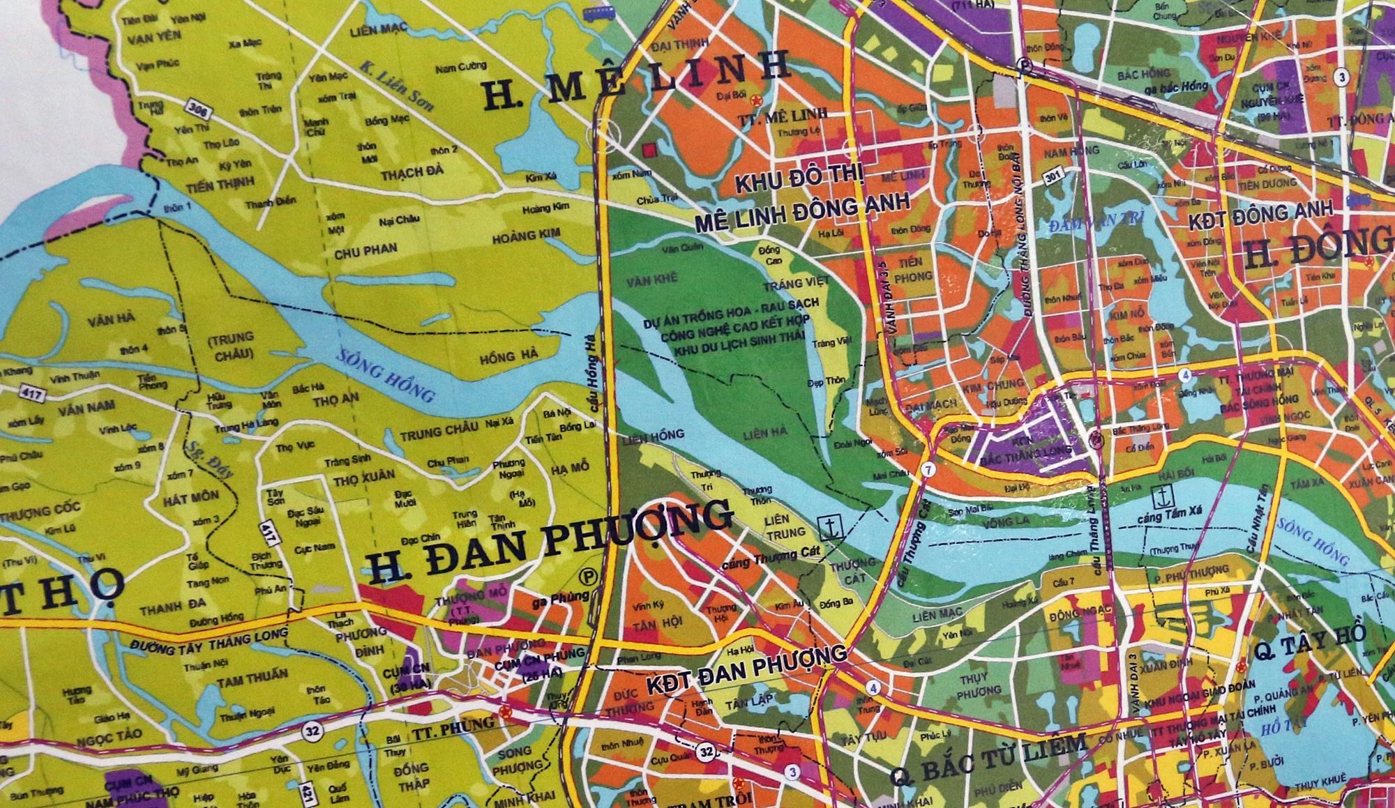 Cầu sẽ mở theo qui hoạch ở Hà Nội: Toàn cảnh vị trí làm cầu Hồng Hà nối Đan Phượng với Mê Linh - Ảnh 13.