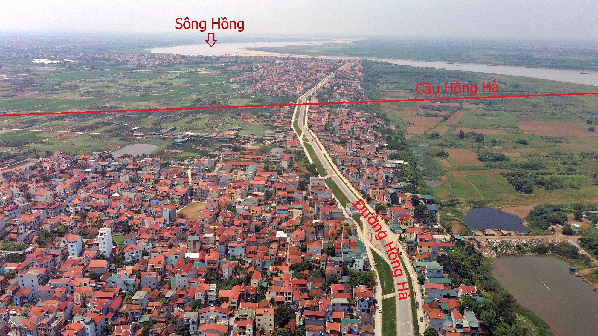 Cầu sẽ mở theo qui hoạch ở Hà Nội: Toàn cảnh vị trí làm cầu Hồng Hà nối Đan Phượng với Mê Linh - Ảnh 4.