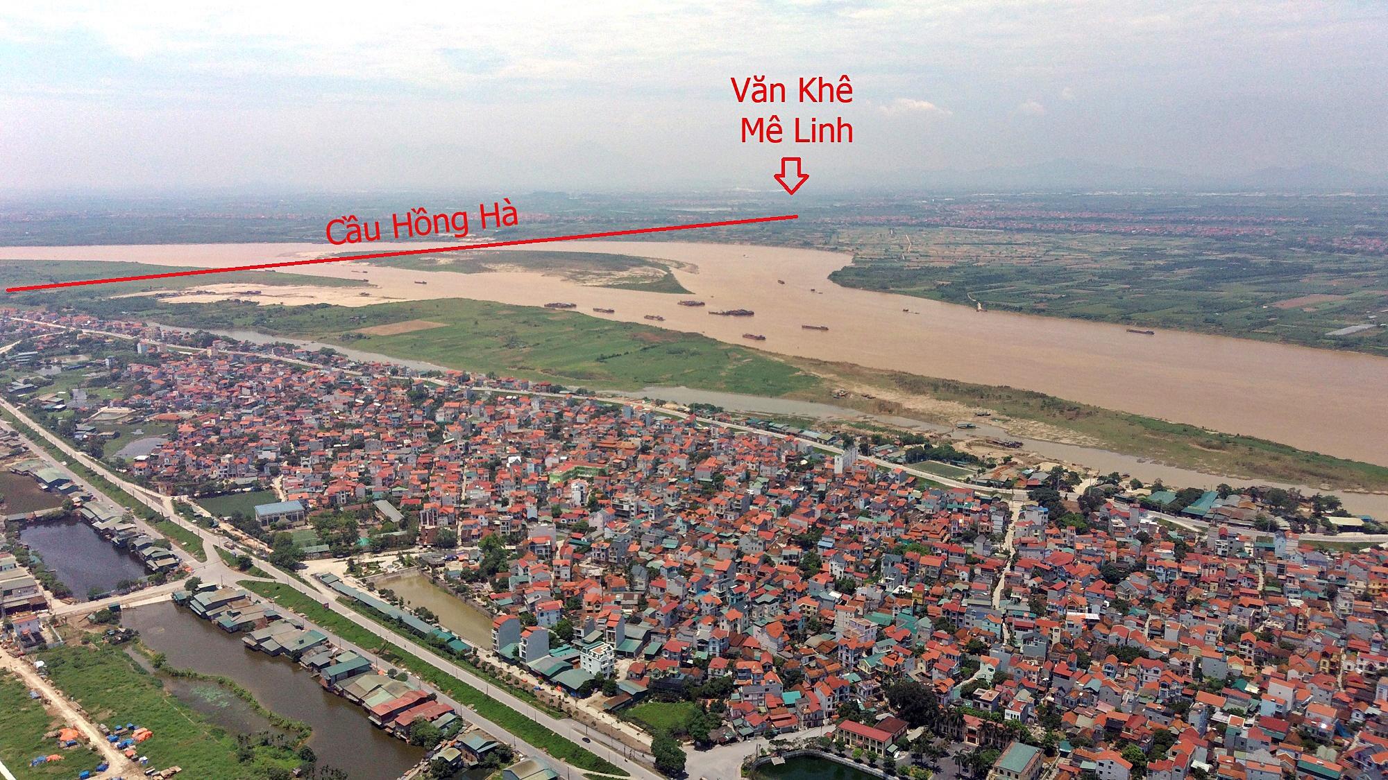 Cầu sẽ mở theo qui hoạch ở Hà Nội: Toàn cảnh vị trí làm cầu Hồng Hà nối Đan Phượng với Mê Linh - Ảnh 7.