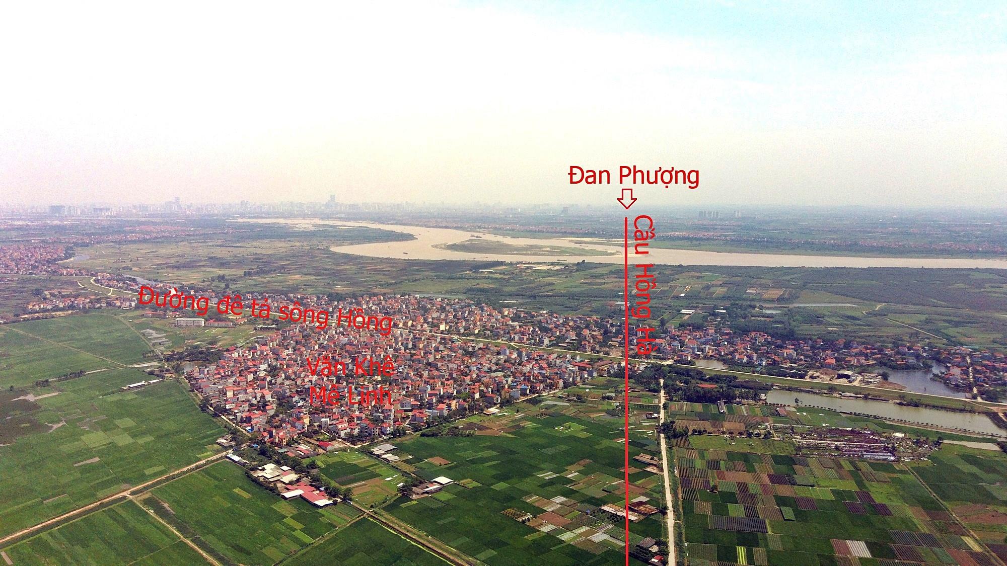 Cầu sẽ mở theo qui hoạch ở Hà Nội: Toàn cảnh vị trí làm cầu Hồng Hà nối Đan Phượng với Mê Linh - Ảnh 8.