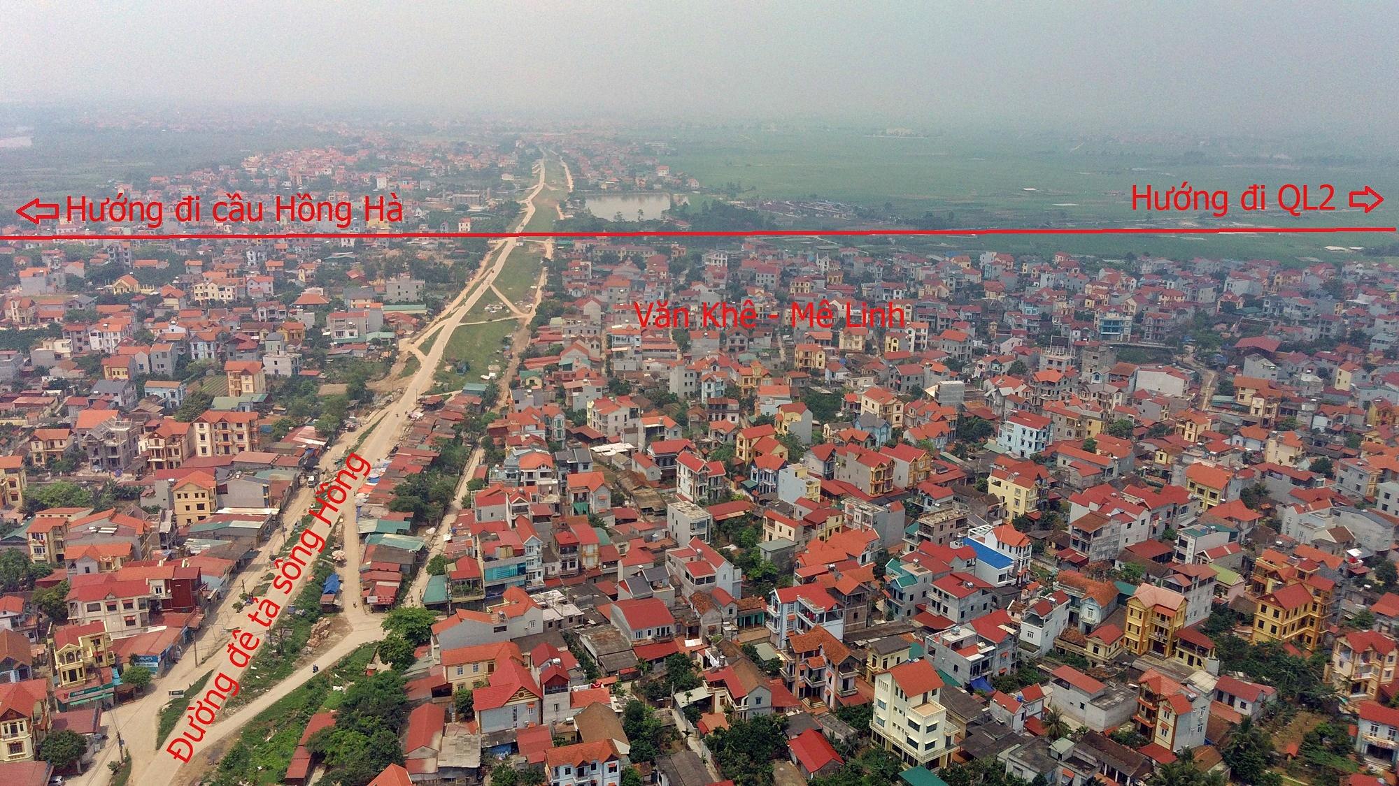 Cầu sẽ mở theo qui hoạch ở Hà Nội: Toàn cảnh vị trí làm cầu Hồng Hà nối Đan Phượng với Mê Linh - Ảnh 10.