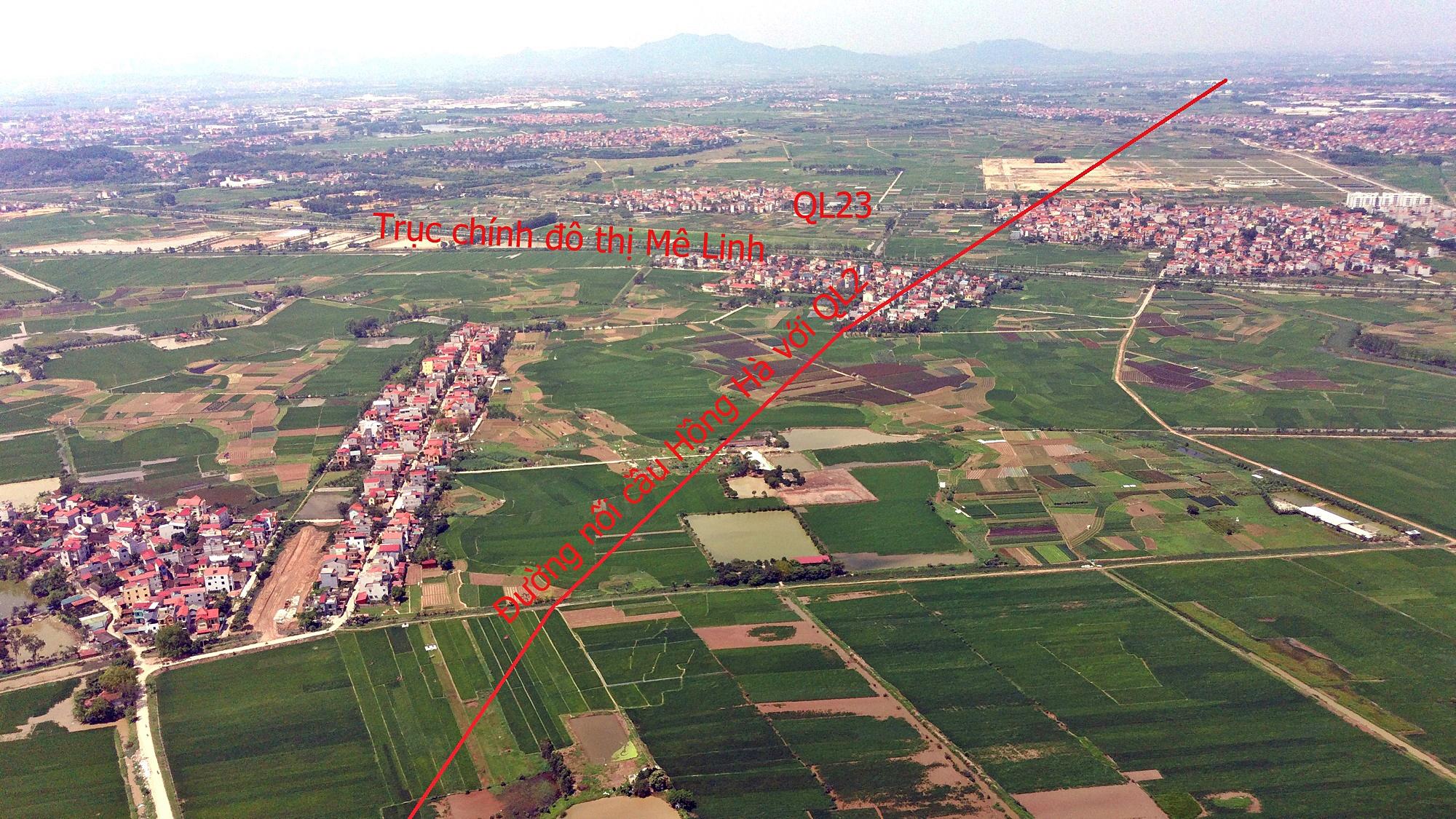 Cầu sẽ mở theo qui hoạch ở Hà Nội: Toàn cảnh vị trí làm cầu Hồng Hà nối Đan Phượng với Mê Linh - Ảnh 11.