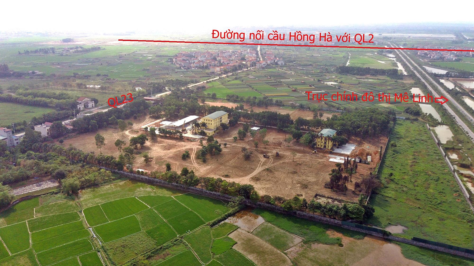 Cầu sẽ mở theo qui hoạch ở Hà Nội: Toàn cảnh vị trí làm cầu Hồng Hà nối Đan Phượng với Mê Linh - Ảnh 12.