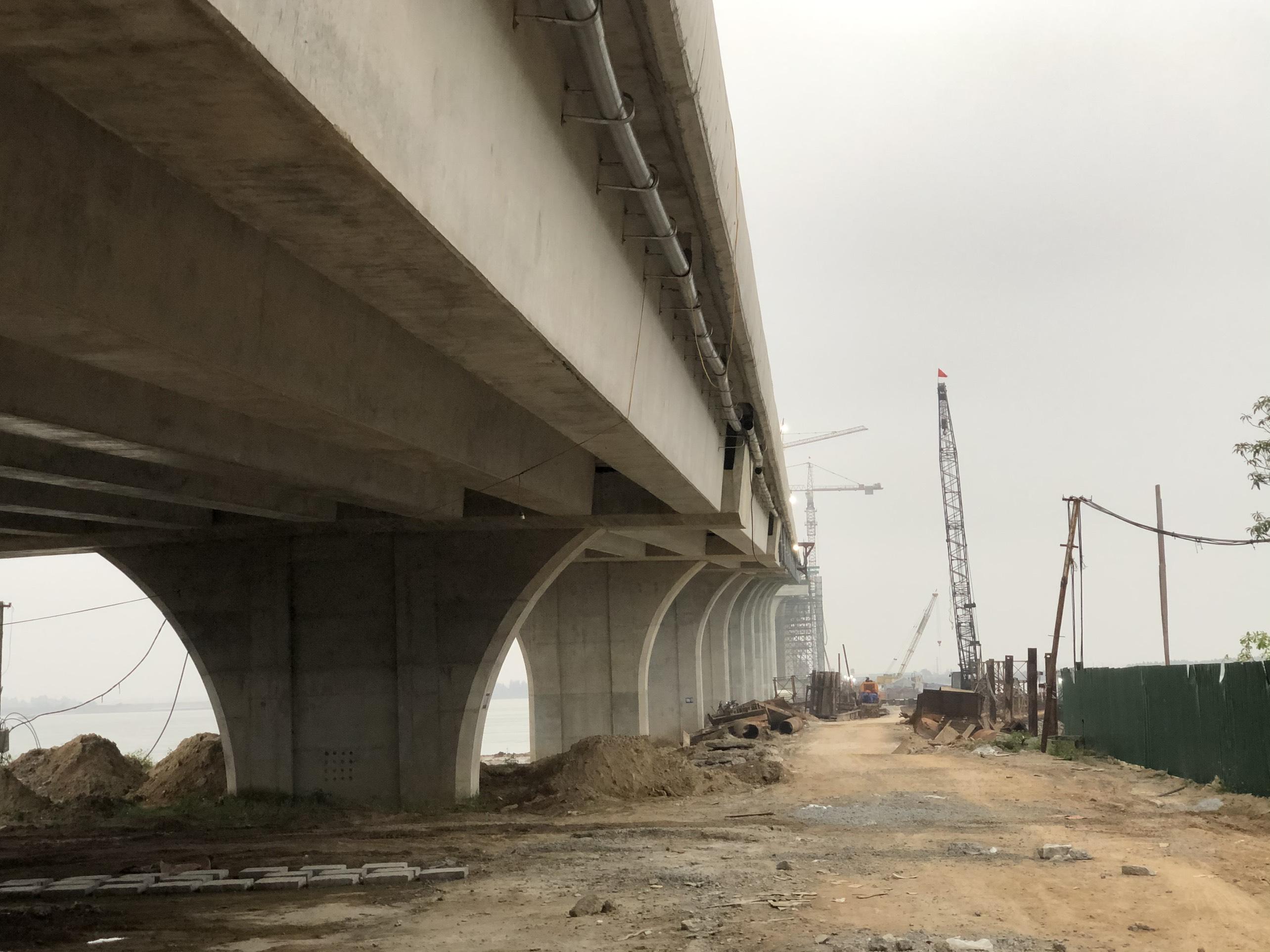 Cận cảnh cầu Cửa Hội nối hai tỉnh Nghệ An - Hà Tĩnh, tổng mức đầu tư 950 tỉ đồng, dự kiến thông xe tháng 8/2020 - Ảnh 11.
