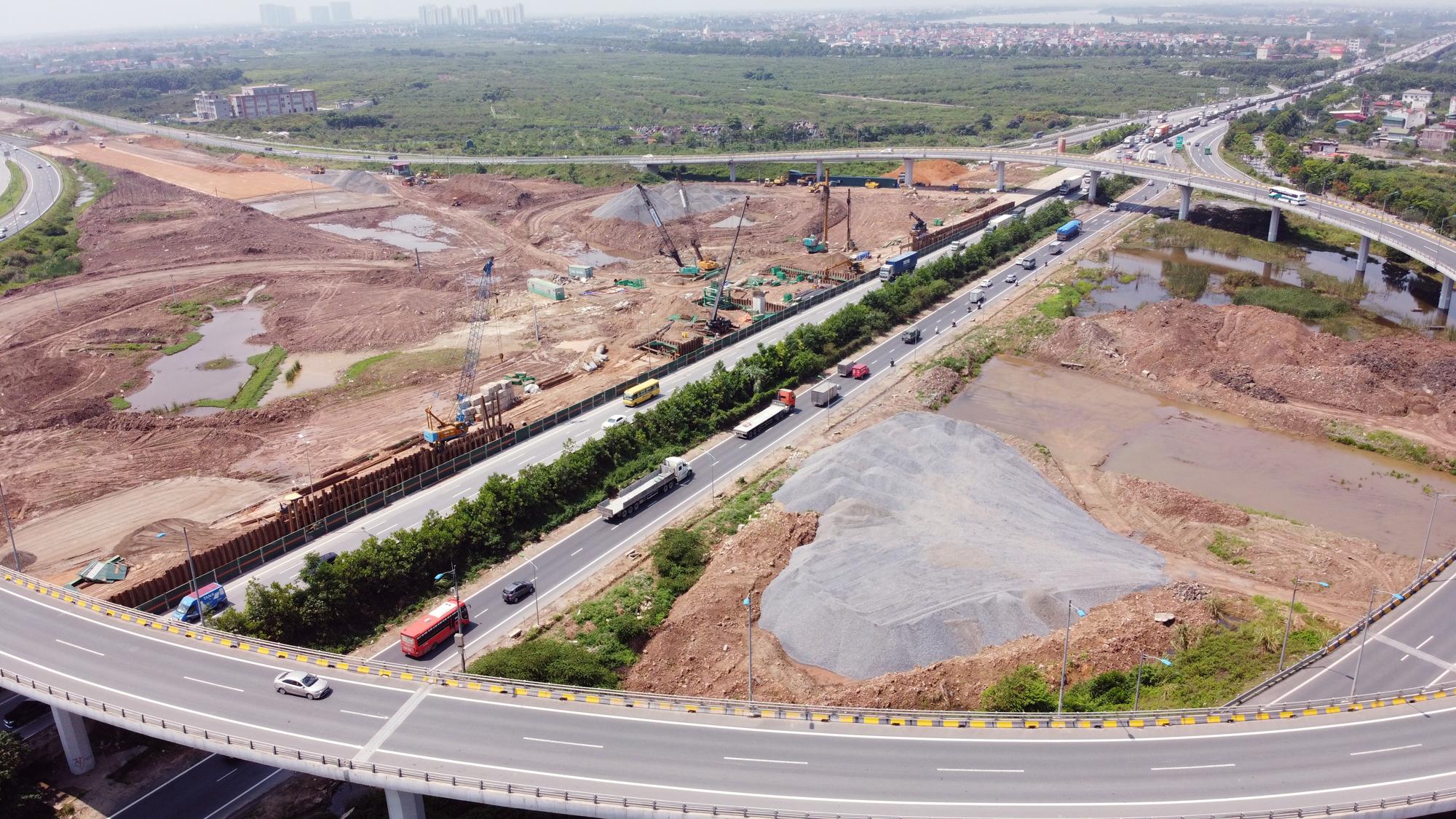 Toàn cảnh dự án xây dựng nút giao Vành đai 3 với cao tốc Hà Nội - Hải Phòng - Ảnh 1.
