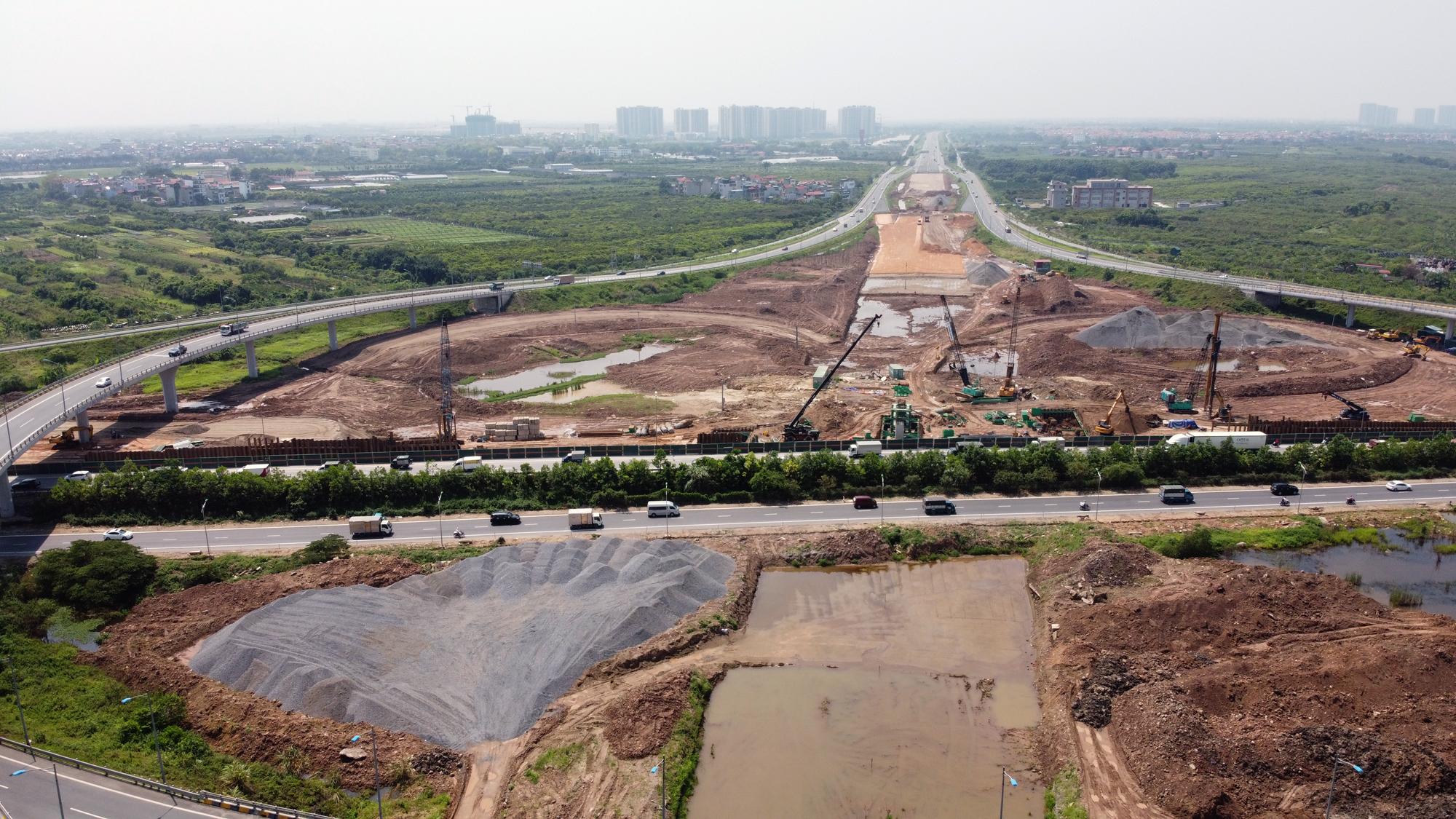 Toàn cảnh dự án xây dựng nút giao Vành đai 3 với cao tốc Hà Nội - Hải Phòng - Ảnh 10.