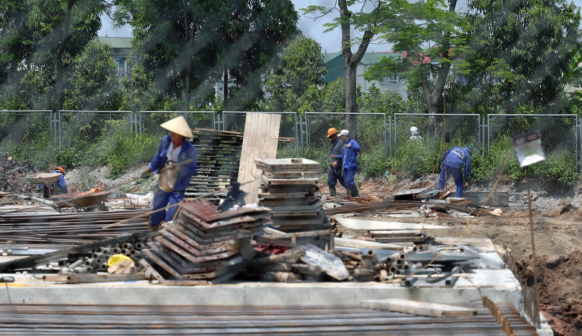 Toàn cảnh dự án xây dựng nút giao Vành đai 3 với cao tốc Hà Nội - Hải Phòng - Ảnh 13.