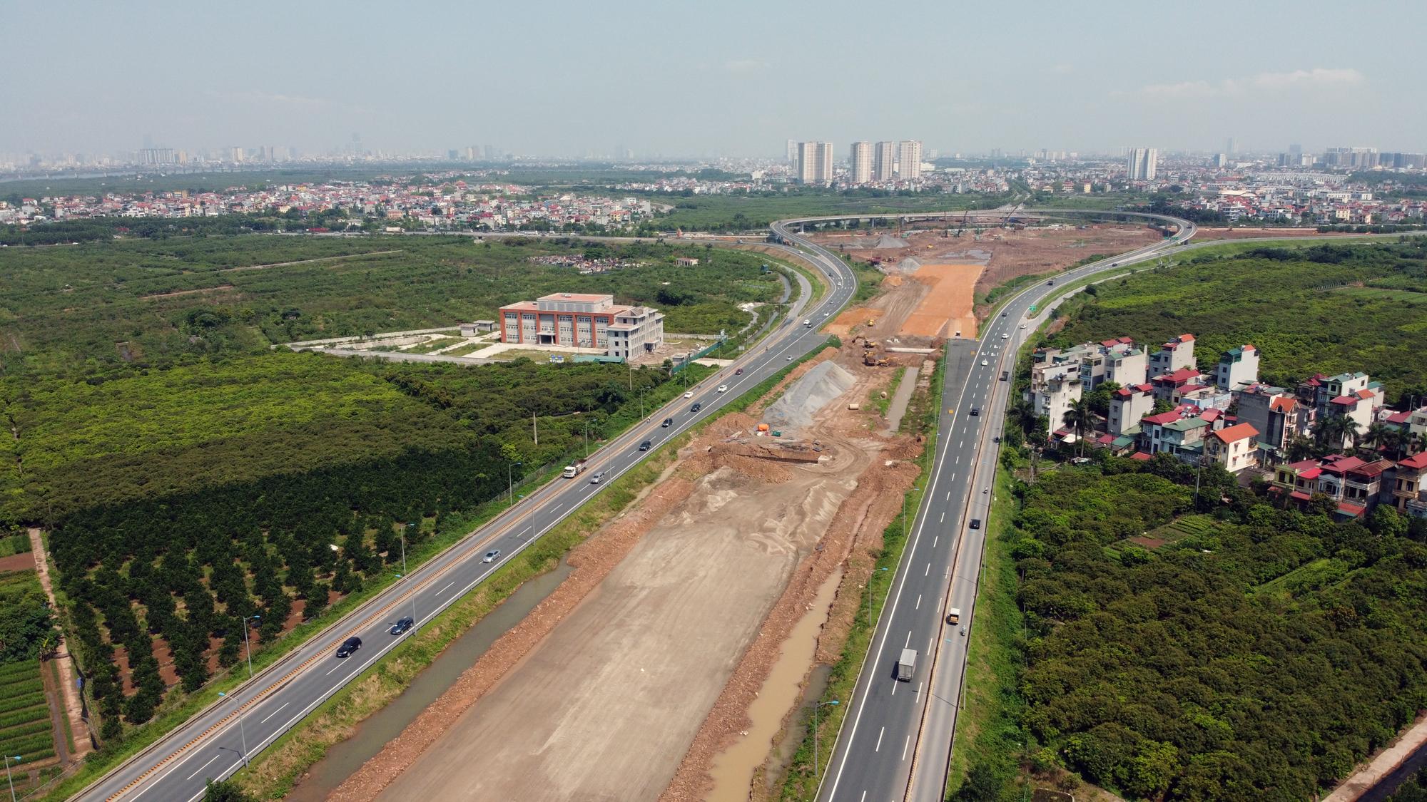 Toàn cảnh dự án xây dựng nút giao Vành đai 3 với cao tốc Hà Nội - Hải Phòng - Ảnh 6.