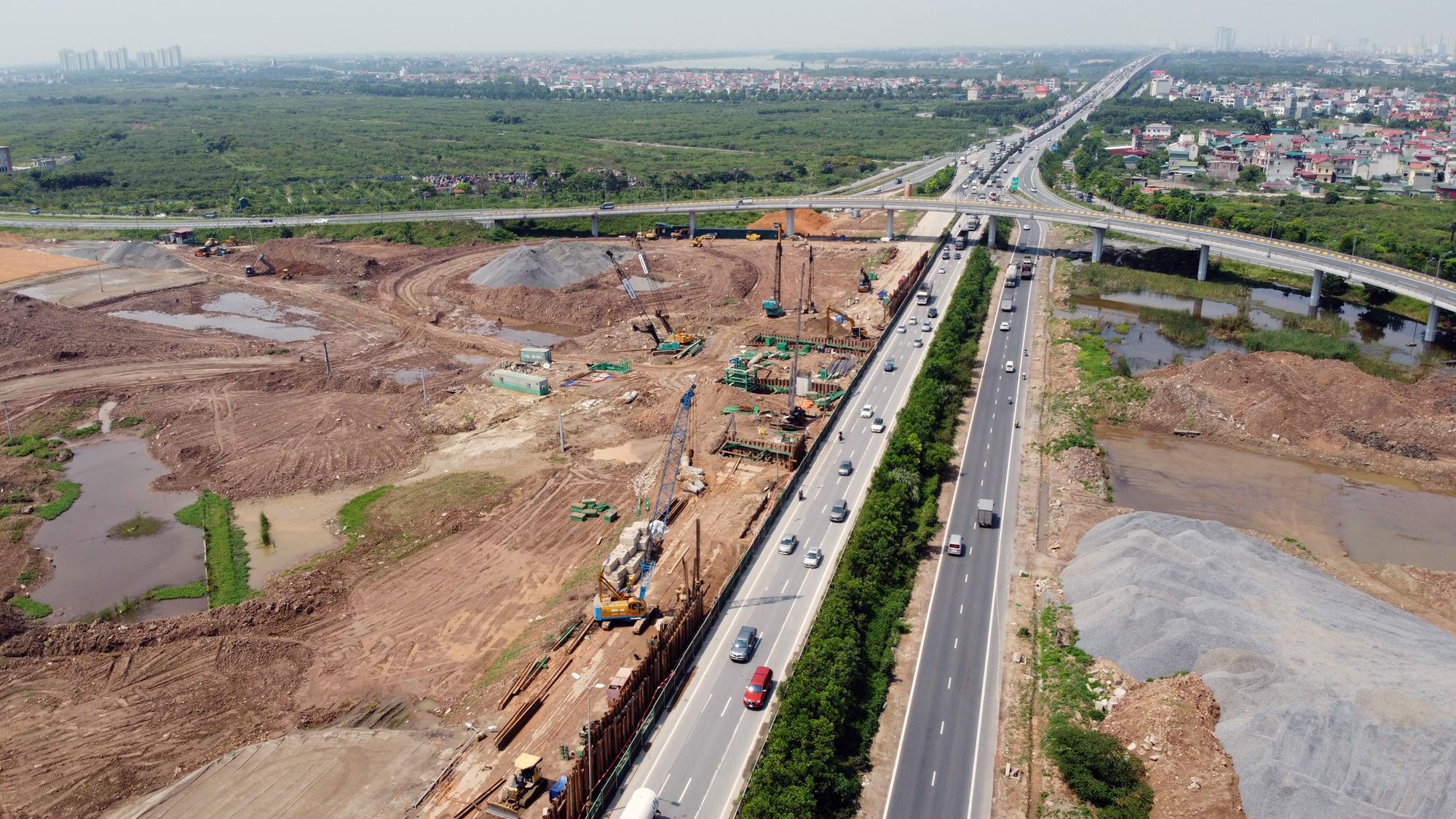 Toàn cảnh dự án xây dựng nút giao Vành đai 3 với cao tốc Hà Nội - Hải Phòng - Ảnh 8.
