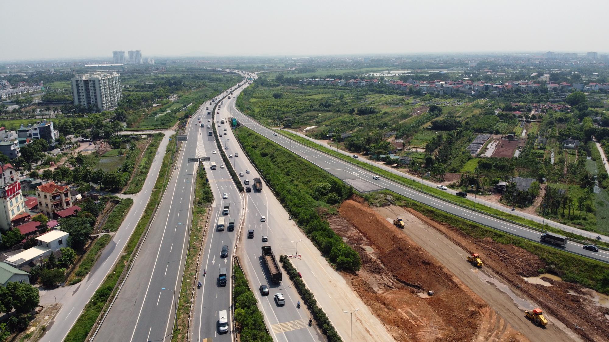 Toàn cảnh dự án xây dựng nút giao Vành đai 3 với cao tốc Hà Nội - Hải Phòng - Ảnh 9.