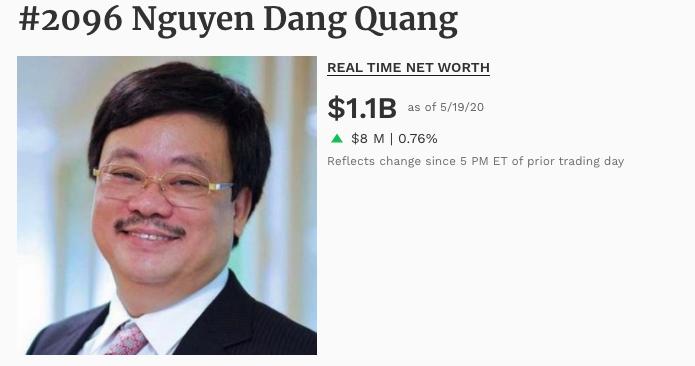 Việt Nam lại vừa có thêm 1 tỉ phú thế giới - Ảnh 1.