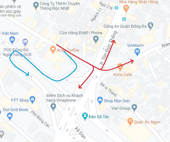 Nút giao thông dễ bị phạt ở Hà Nội: Đi tắt từ Đê La Thành sang Khâm Thiên, Tôn Đức Thắng - Ảnh 3.