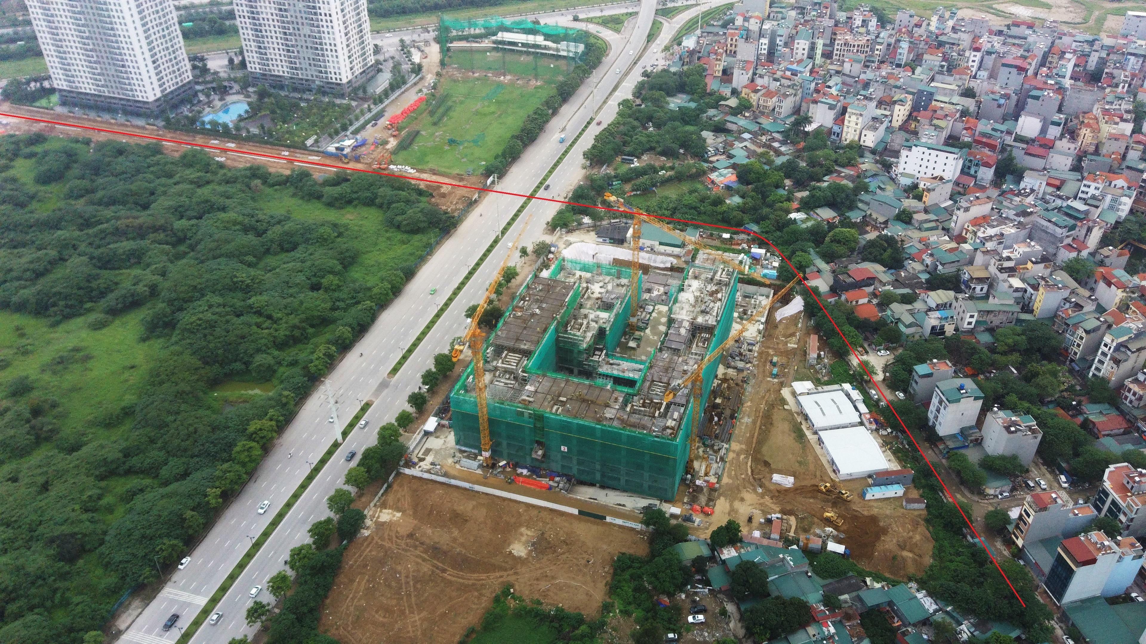 Đang xây dựng đường theo qui hoạch sát chung cư Mỹ Đình Pearl - Ảnh 2.