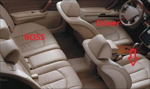 Giao tiếp khéo léo trong việc chọn vị trí ngồi trên xe ô tô khi đi cùng sếp - Ảnh 5.