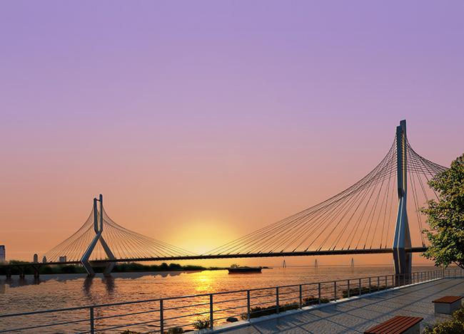 Cầu Tứ Liên có thể trở thành cầu dây văng tiếp theo ở Hà Nội - Ảnh 1.