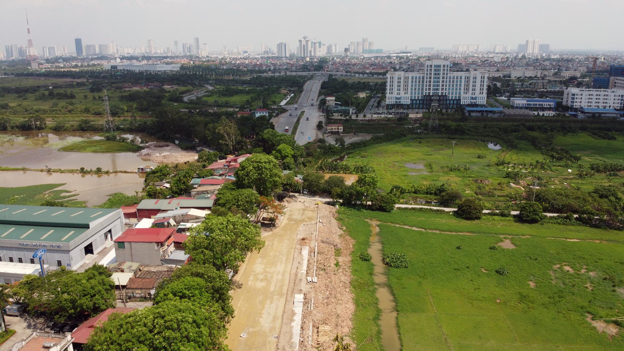 Toàn cảnh nơi xây dựng tuyến đường dài 3km trị giá gần 500 tỉ đồng ở quận Nam Từ Liêm - Ảnh 5.
