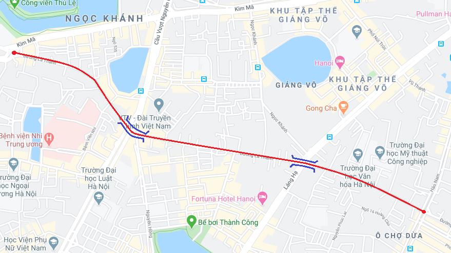 Hà Nội: Tuyến Hoàng Cầu - Voi Phục chậm tiến độ, hai cầu vượt đường vành đai 1 vẫn chưa thành hình - Ảnh 1.