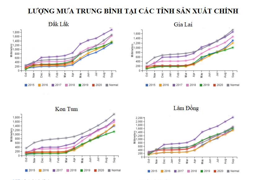 USDA: Dự báo sản xuất cà phê của Việt Nam năm 2020 - 2021 giảm do điều kiện thời tiết bất lợi - Ảnh 1.