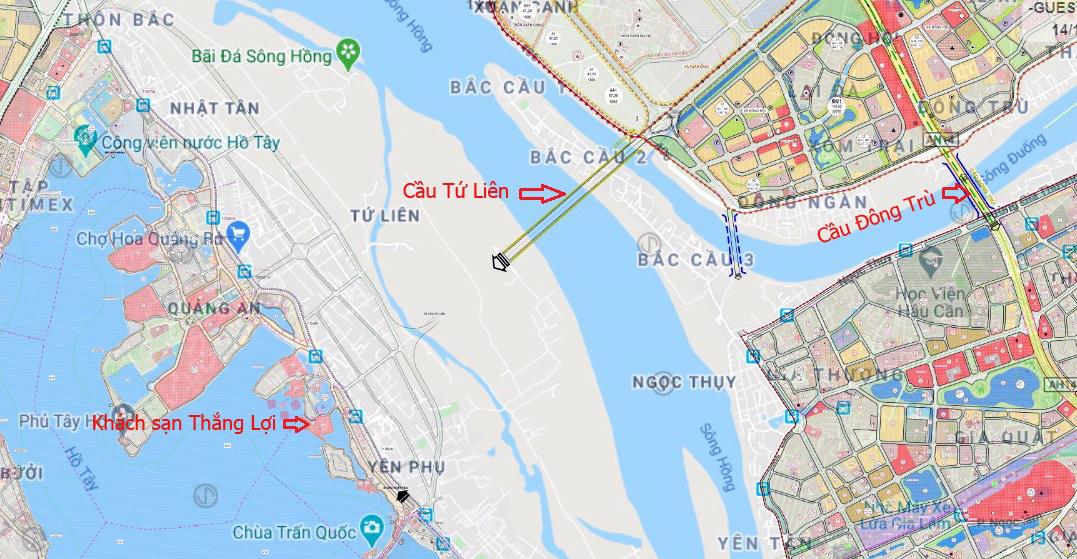 Cầu sẽ mở theo qui hoạch: Toàn cảnh cầu Tứ Liên nối hồ Tây với Đông Anh - Ảnh 1.