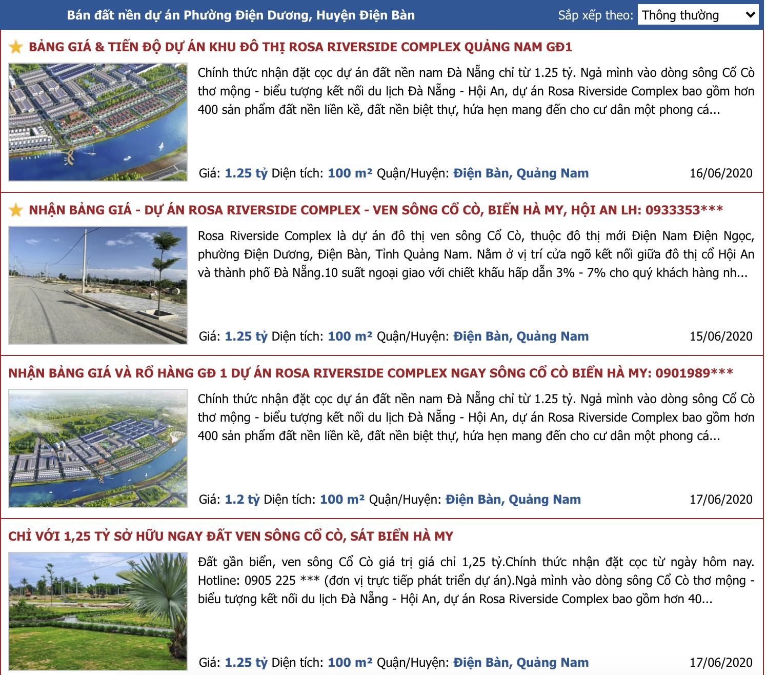 Dự án Rosa River Complex chưa đủ điều kiện đã rao bán đầy trên mạng - Ảnh 1.