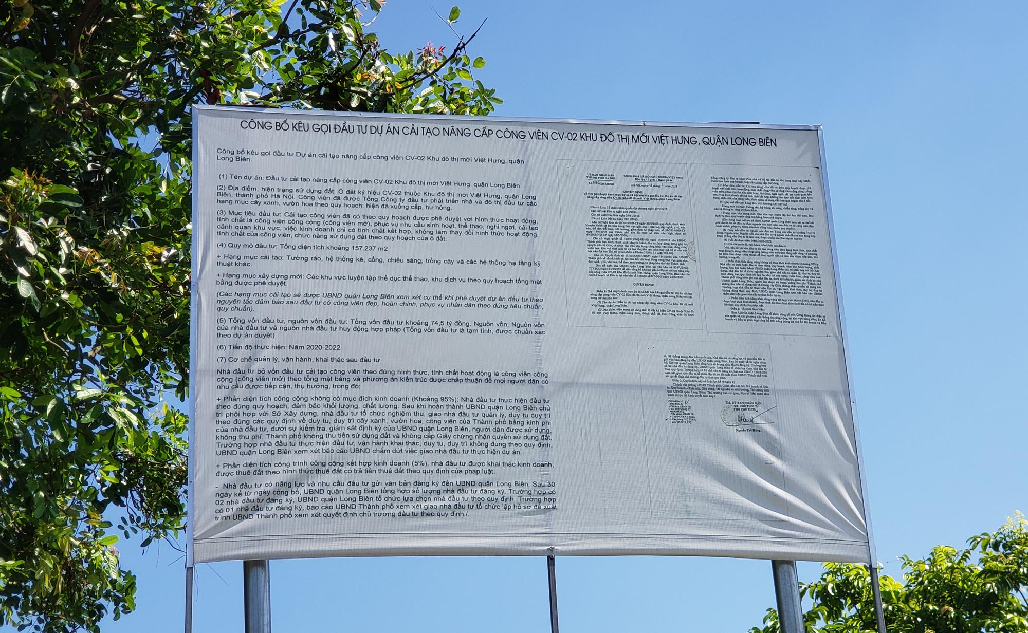 Chờ dự án cải tạo, công viên CV-02 Khu đô thị mới Việt Hưng như cánh đồng hoang - Ảnh 16.