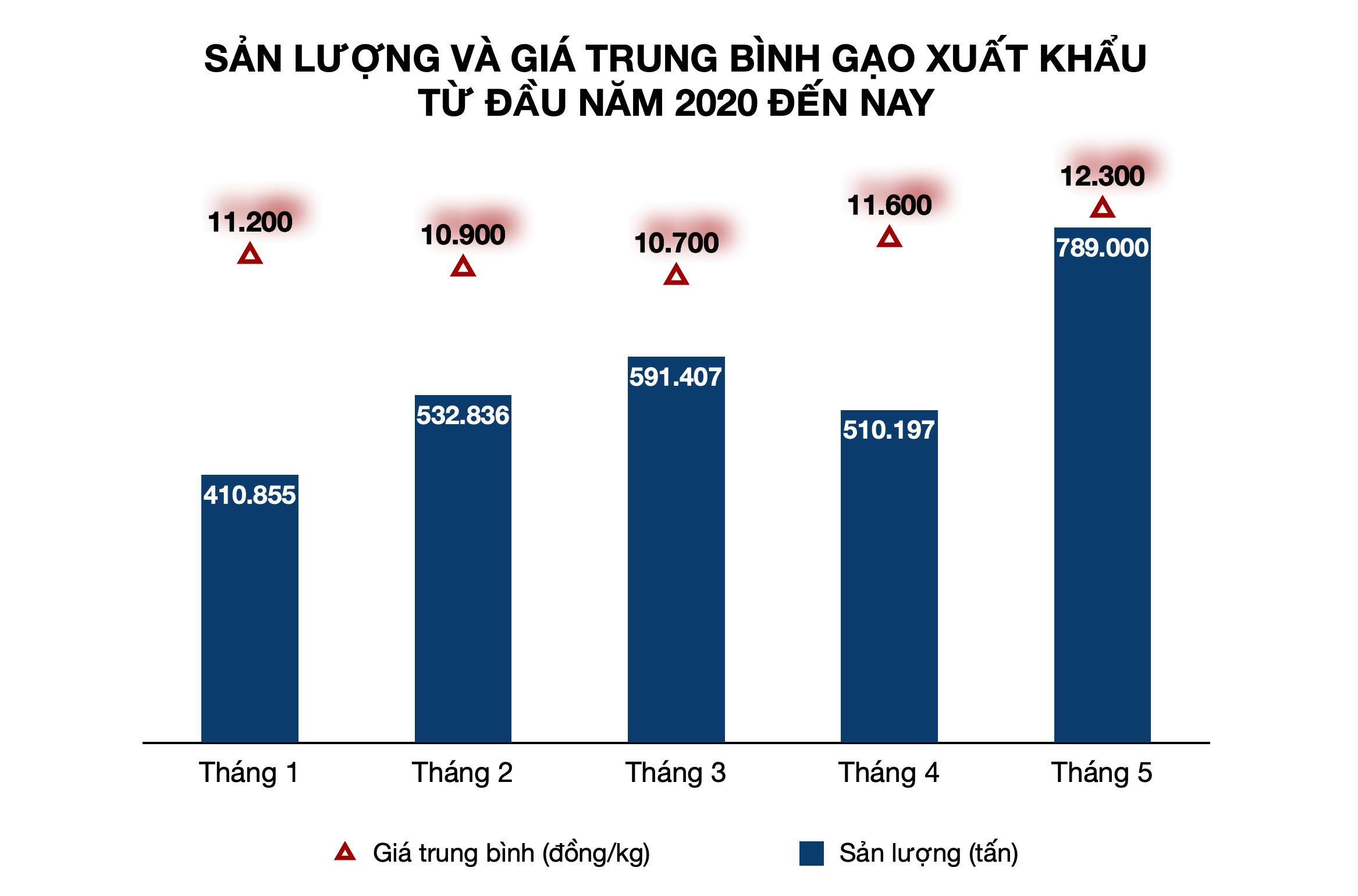 Giá gạo Việt Nam xuất khẩu cao nhất hơn 8 năm qua, tăng liên tiếp từ tháng 4 đến nay - Ảnh 1.