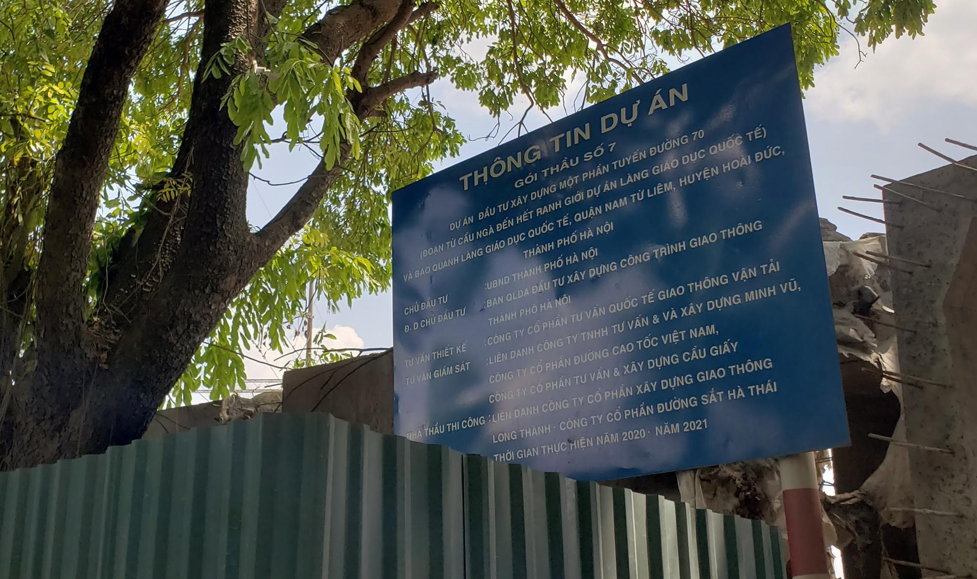 Đang làm một phần đường 70 ở quận Nam Từ Liêm từ cầu Ngà đến hết ranh giới dự án Làng giáo dục Quốc tế - Ảnh 15.