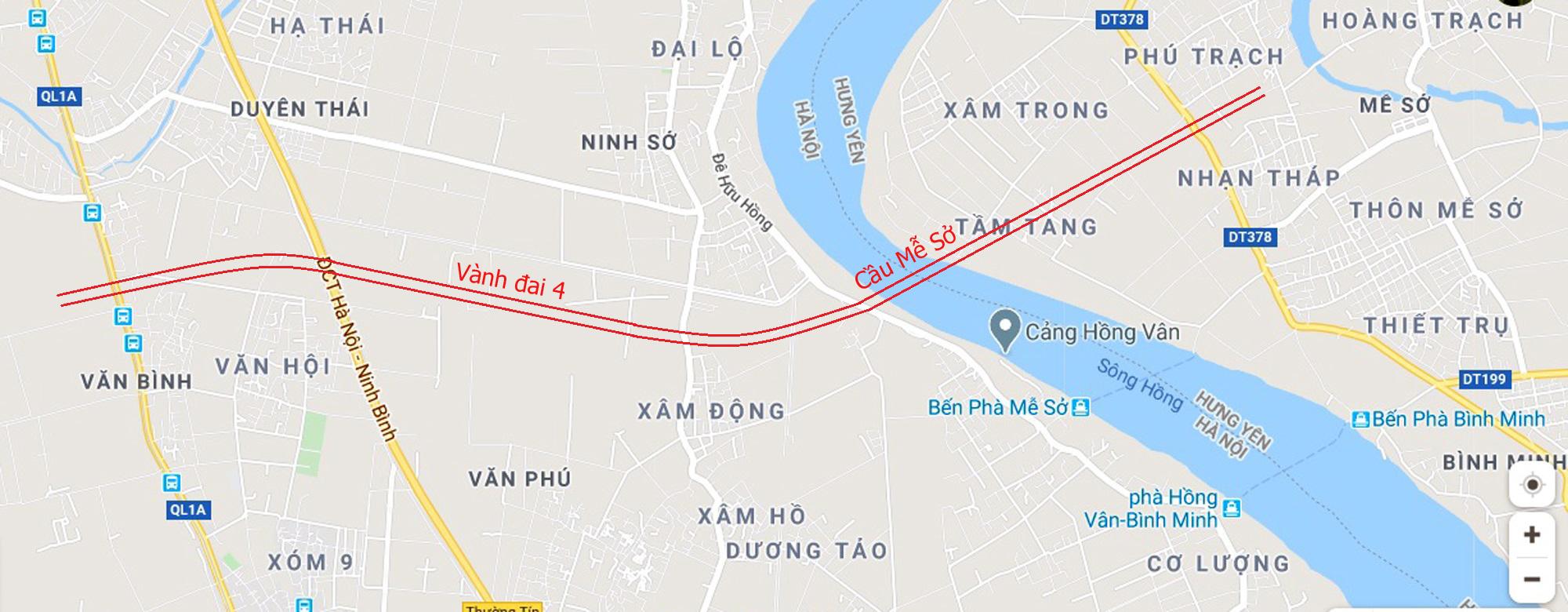 Cầu sẽ mở theo qui hoạch ở Hà Nội: Toàn cảnh vị trí làm cầu Mễ Sở nối Văn Giang - Thường Tín - Ảnh 2.