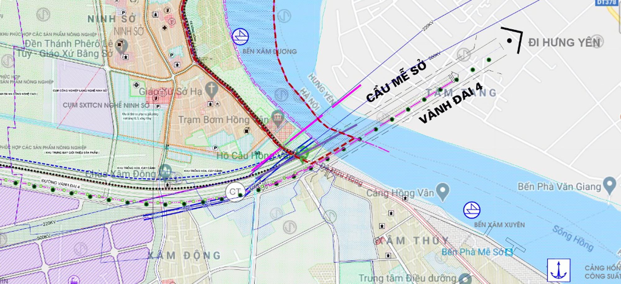 Cầu sẽ mở theo qui hoạch ở Hà Nội: Toàn cảnh vị trí làm cầu Mễ Sở nối Văn Giang - Thường Tín - Ảnh 1.