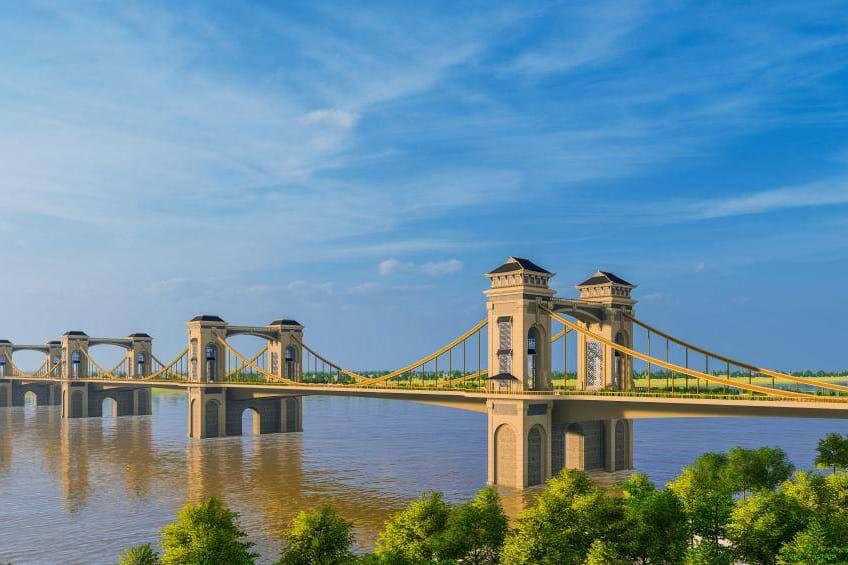 Hình ảnh cầu Trần Hưng Đạo 9.000 tỉ đồng bắc qua sông Hồng nối quận Hoàn Kiếm và Long Biên - Ảnh 1.