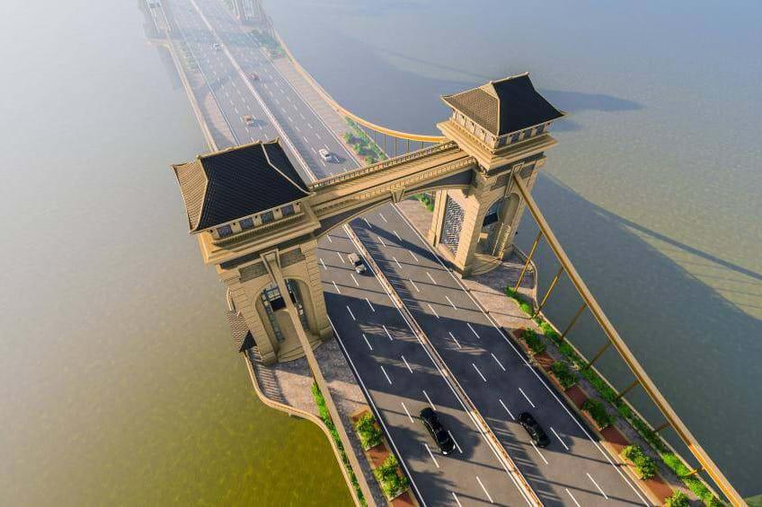 Hình ảnh cầu Trần Hưng Đạo 9.000 tỉ đồng bắc qua sông Hồng nối quận Hoàn Kiếm và Long Biên - Ảnh 2.
