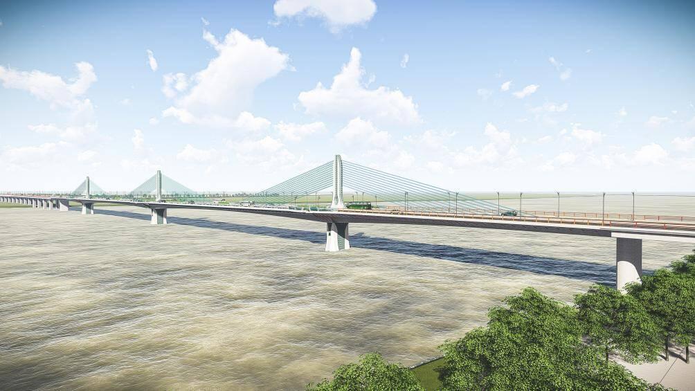 Hình ảnh cầu Trần Hưng Đạo 9.000 tỉ đồng bắc qua sông Hồng nối quận Hoàn Kiếm và Long Biên - Ảnh 3.