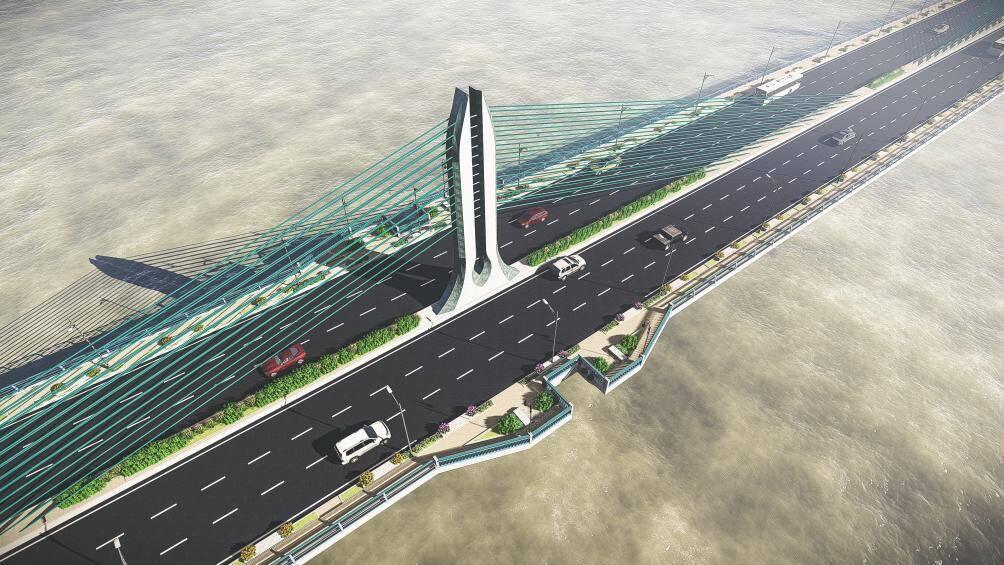 Hình ảnh cầu Trần Hưng Đạo 9.000 tỉ đồng bắc qua sông Hồng nối quận Hoàn Kiếm và Long Biên - Ảnh 4.