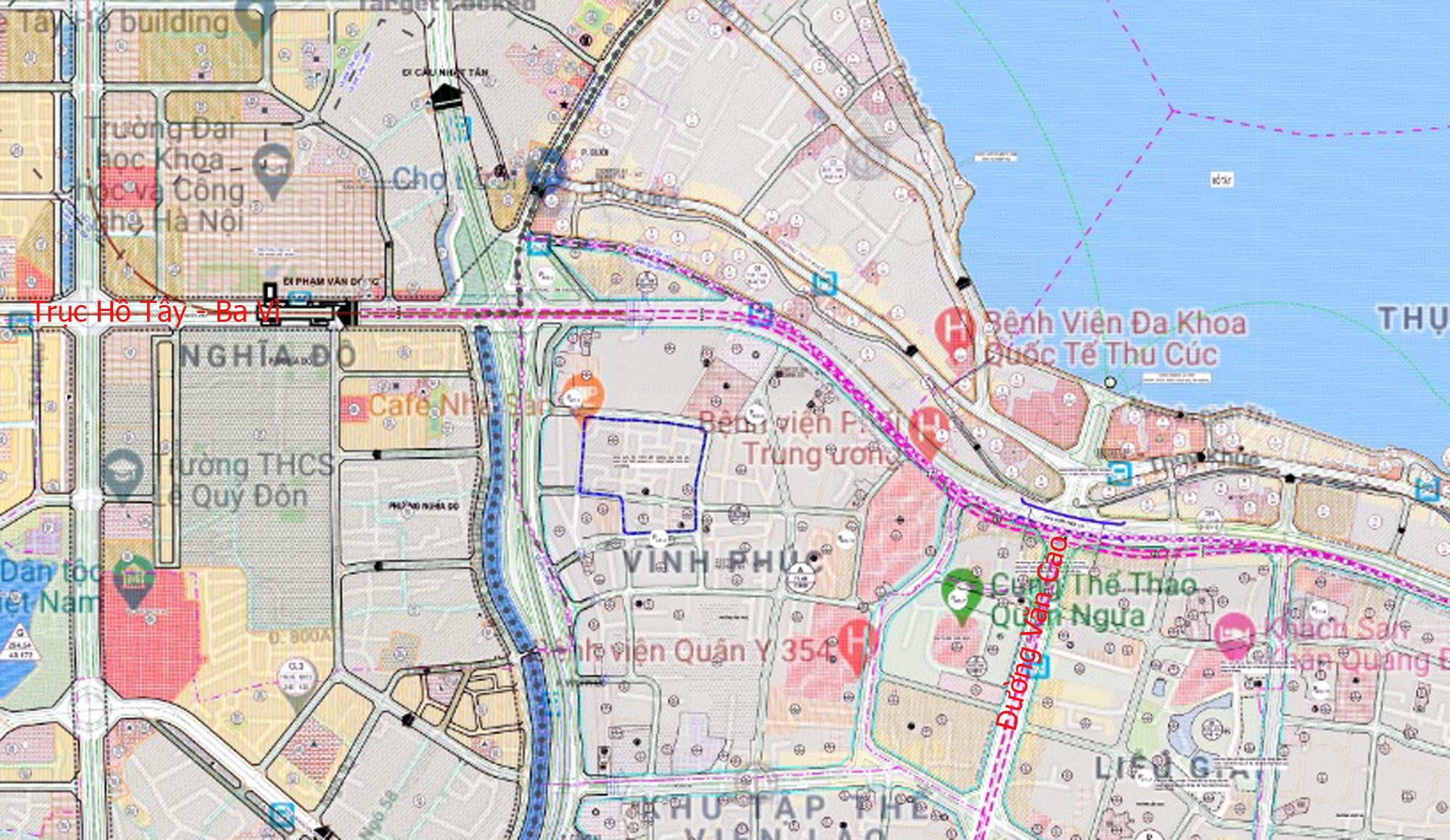 Đường sẽ mở theo qui hoạch ở Hà Nội: Toàn cảnh trục Hồ Tây - Ba Vì đến Vành đai 4 - Ảnh 2.