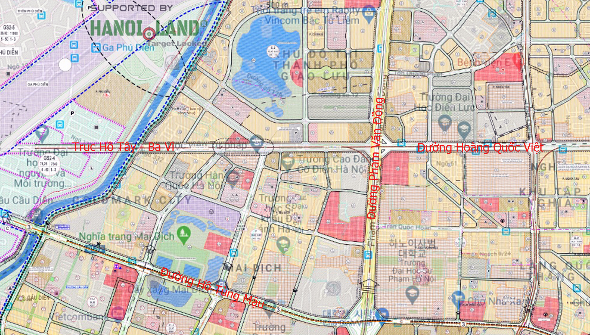 Đường sẽ mở theo qui hoạch ở Hà Nội: Toàn cảnh trục Hồ Tây - Ba Vì đến Vành đai 4 - Ảnh 10.