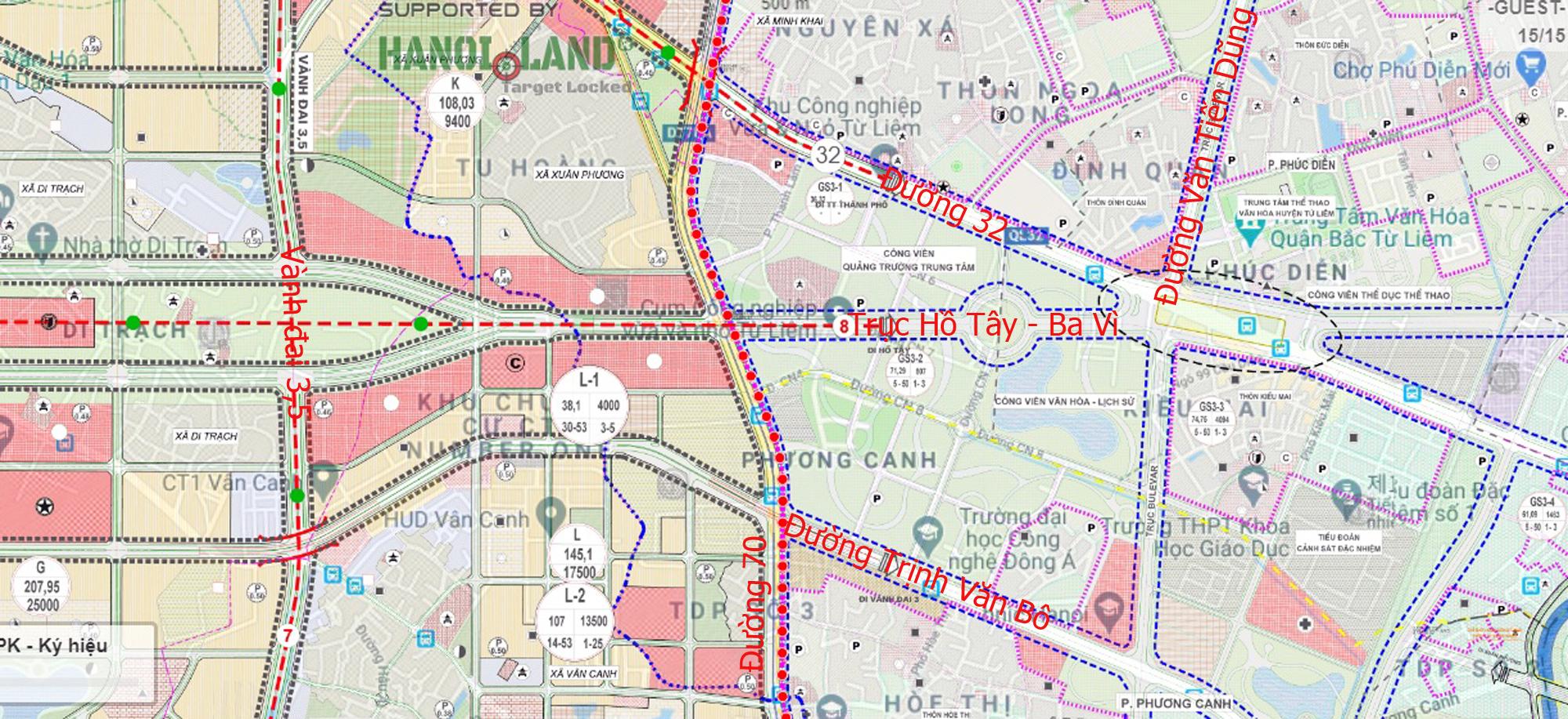 Đường sẽ mở theo qui hoạch ở Hà Nội: Toàn cảnh trục Hồ Tây - Ba Vì đến Vành đai 4 - Ảnh 16.