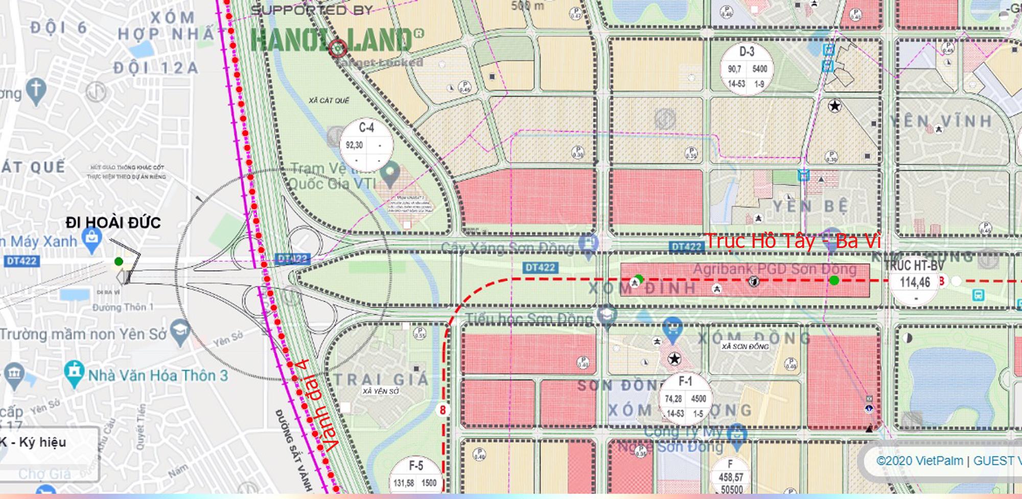 Đường sẽ mở theo qui hoạch ở Hà Nội: Toàn cảnh trục Hồ Tây - Ba Vì đến Vành đai 4 - Ảnh 23.