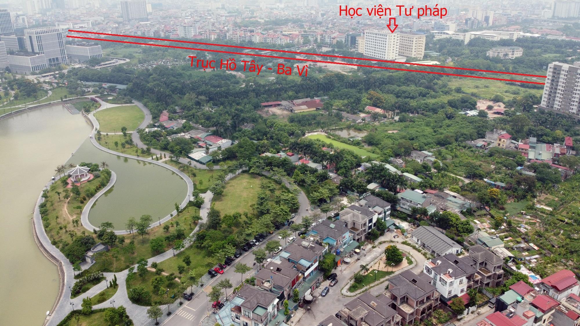 Đường sẽ mở theo qui hoạch ở Hà Nội: Toàn cảnh trục Hồ Tây - Ba Vì đến Vành đai 4 - Ảnh 13.