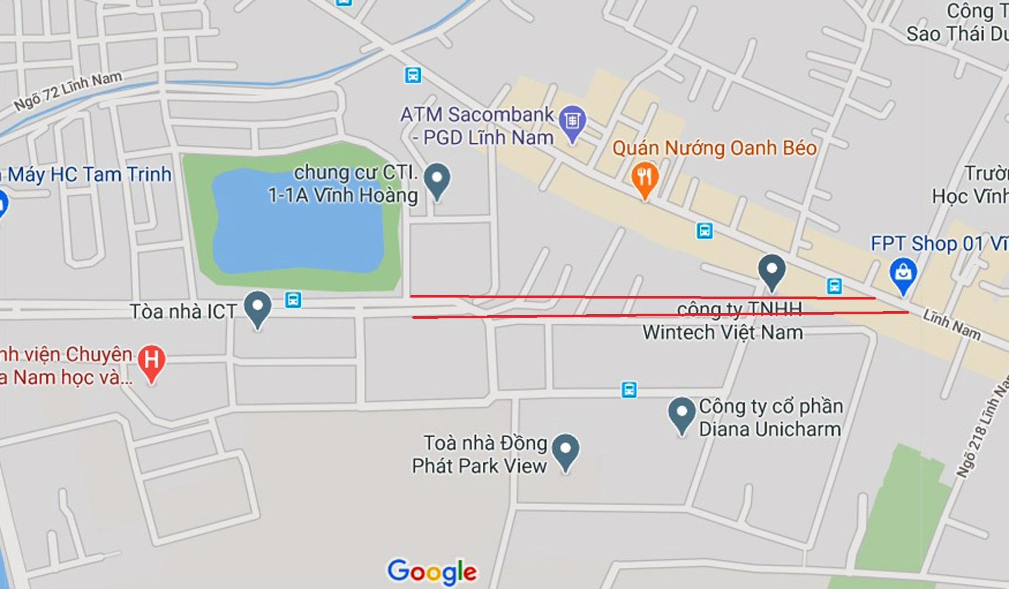 đường sẽ mở theo qui hoạch ở phường Hoàng Văn Thụ, Hoàng Mai, Hà Nội - Ảnh 2.