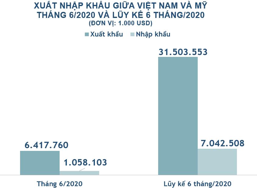 Xuất nhập khẩu Việt Nam và Mỹ tháng 6/2020: Việt Nam tiếp tục xuất siêu - Ảnh 2.