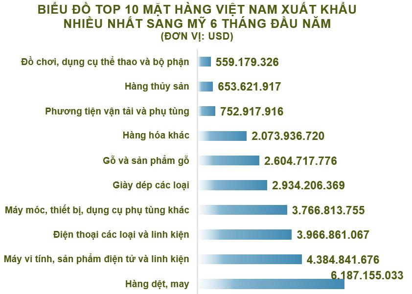 Xuất nhập khẩu Việt Nam và Mỹ tháng 6/2020: Việt Nam tiếp tục xuất siêu - Ảnh 3.