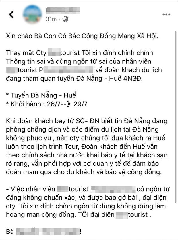 Công ty lữ hành nhận 'bão' 1 sao vì HDV phát ngôn đưa khách 'tẩu thoát khỏi Đà Nẵng' - Ảnh 2.