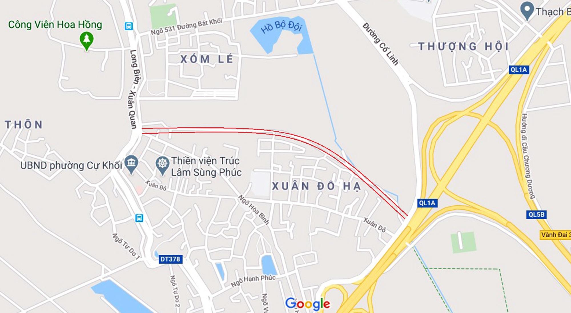 đường sẽ mở theo qui hoạch ở phường Cự Khối, Long Biên, Hà Nội - Ảnh 2.