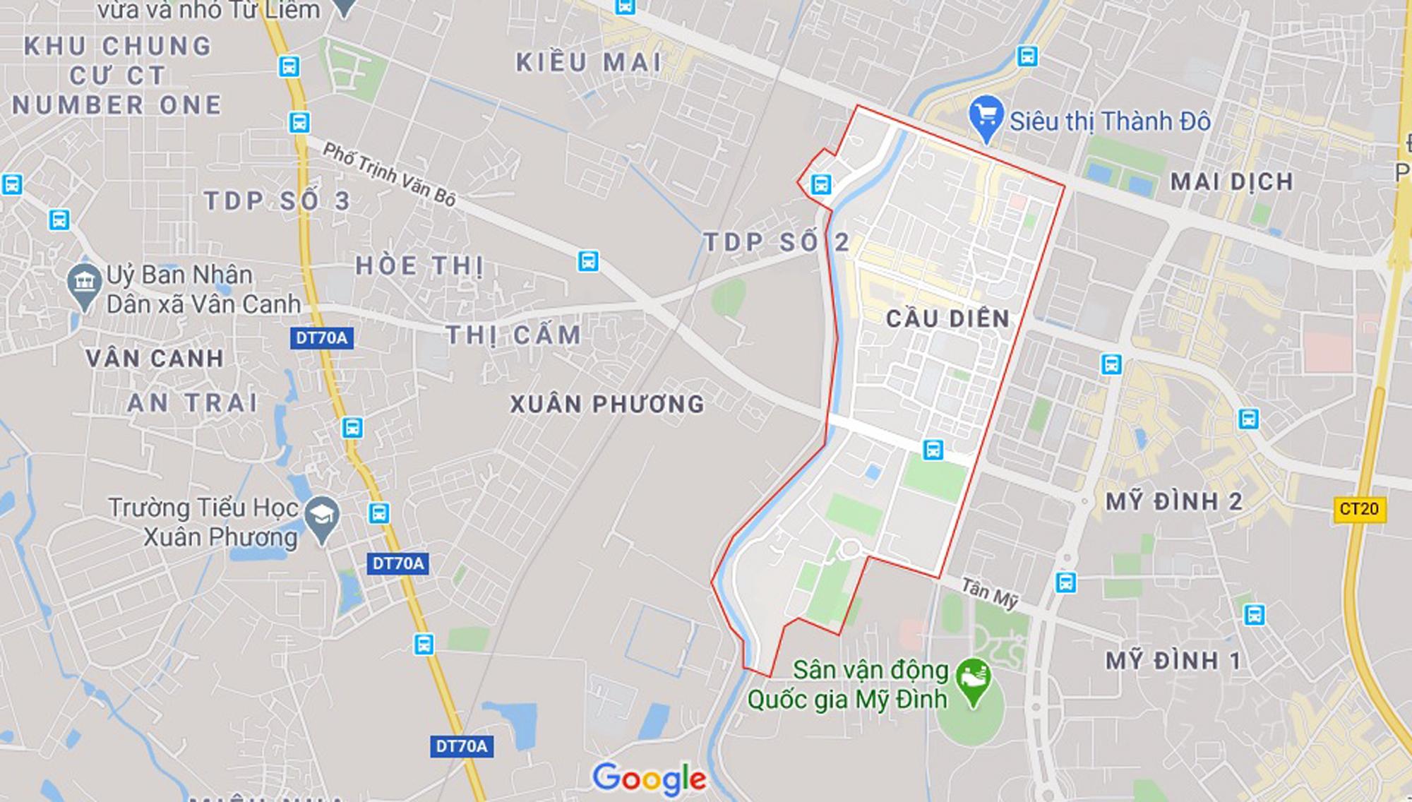 Ba đường sẽ mở theo qui hoạch ở phường Cầu Diễn, Nam Từ Liêm, Hà Nội - Ảnh 1.
