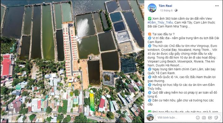 Khánh Hòa: Tràn lan phân lô bán nền ven đầm Thủy Triều - Ảnh 1.