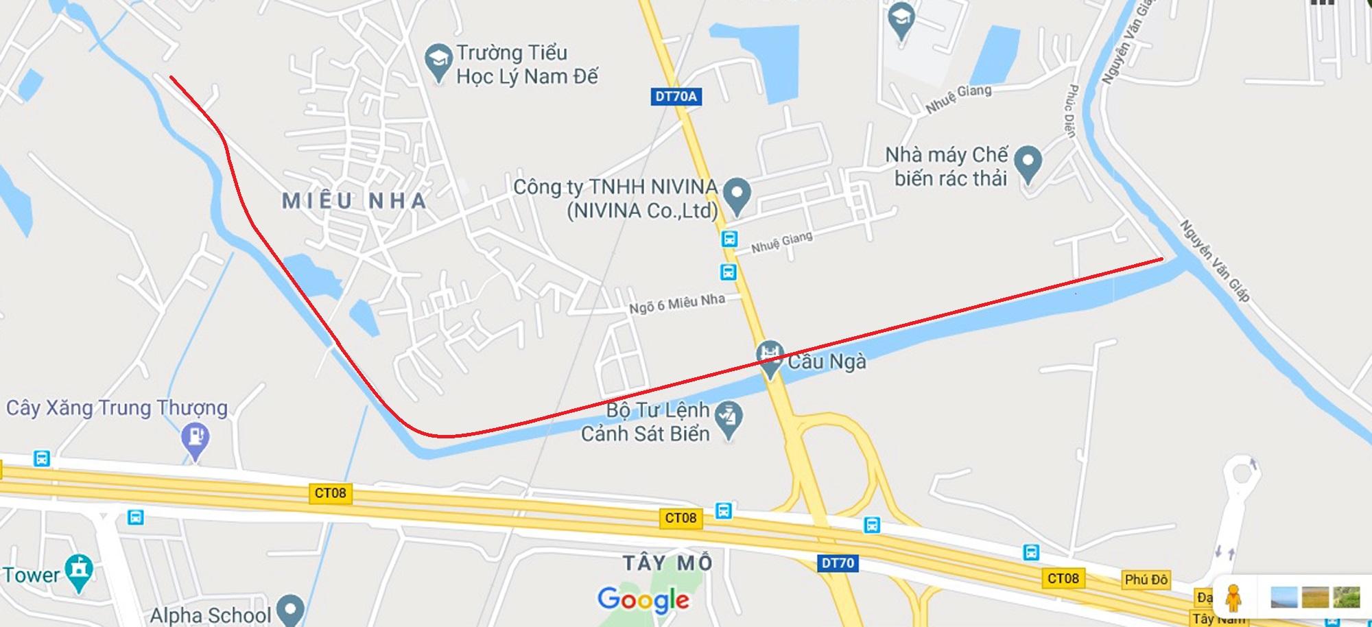 Toàn cảnh nơi xây dựng tuyến đường dài 3km trị giá gần 500 tỉ đồng ở quận Nam Từ Liêm - Ảnh 1.