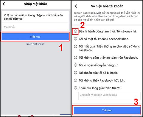 Cách khóa tài khoản facebook tạm thời trên điện thoại và máy tính đơn giản - Ảnh 3.