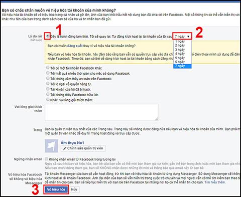 Cách khóa tài khoản facebook tạm thời trên điện thoại và máy tính đơn giản - Ảnh 9.