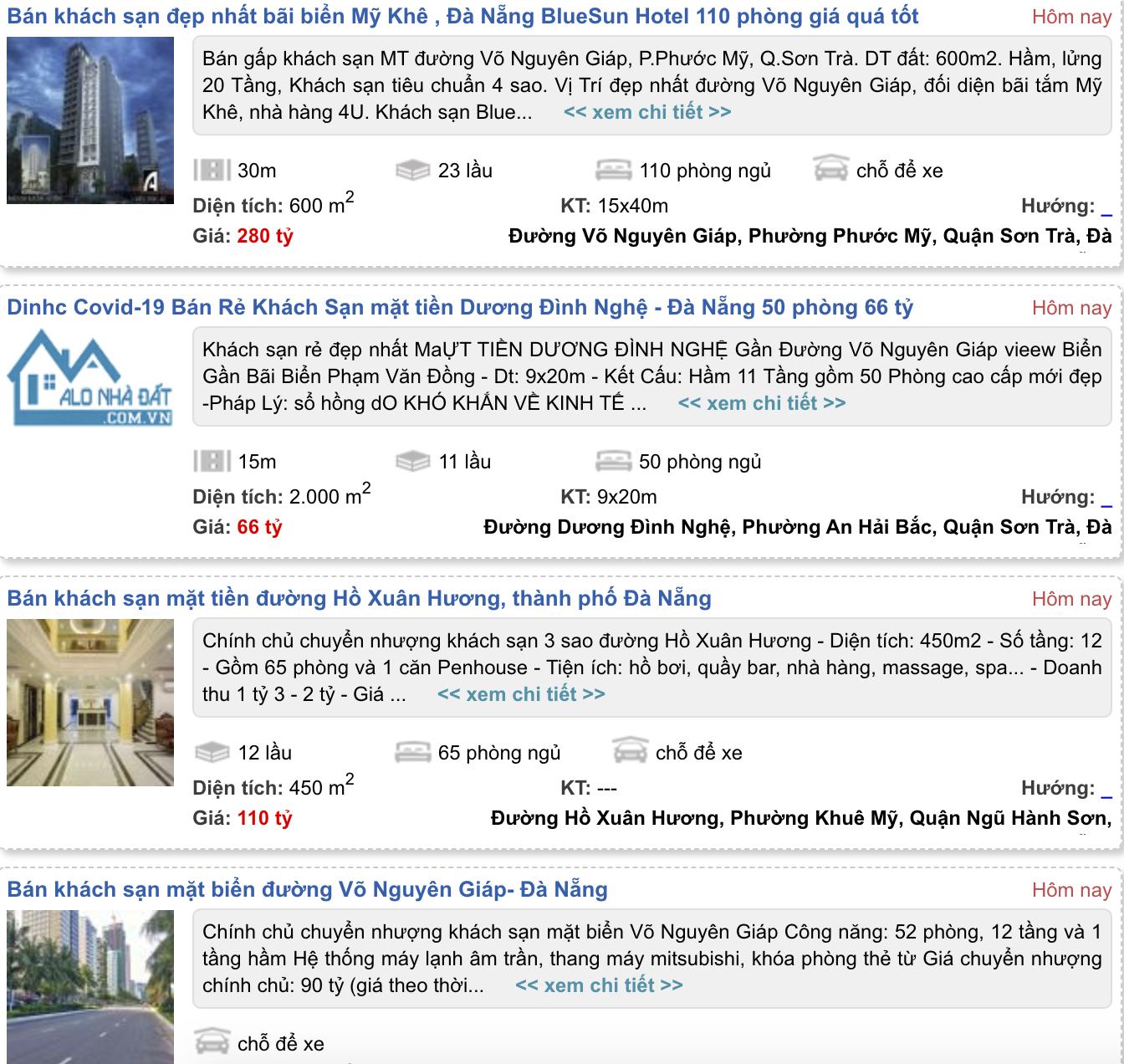 'Cú đấm bồi' COVID-19 khiến khách sạn 4 sao ở Đà Nẵng cũng rao bán - Ảnh 1.